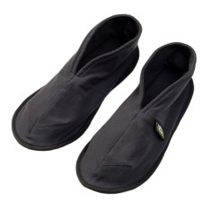 Unisex charcoal cotton slippers