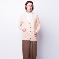 Take me anywhere cashmere cardigan in Nude