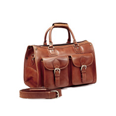 TheCompanion Leather Travel Weekender Bag - 18