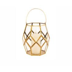 Brass Geometric Lantern