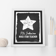 Rock star teacher appreciation print