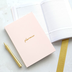 Blush Pink and Gold A5 Planner