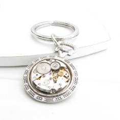Vintage watch movement key ring