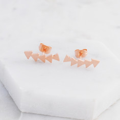 Geometric ear crawler in rose gold