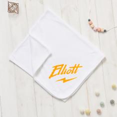 Personalised Baby Thunderbolt Blanket
