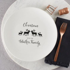 Personalised Family Christmas Plate