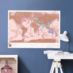 Rose Gold Scratch Map