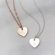 Sisters Are Forever Friends Engraved Necklace