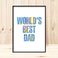 World's best dad art print