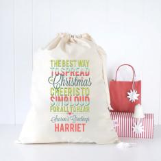 Christmas cheer personalised Santa sack
