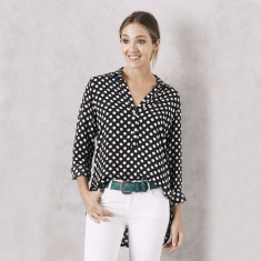 Polka Dot Shirt in Black