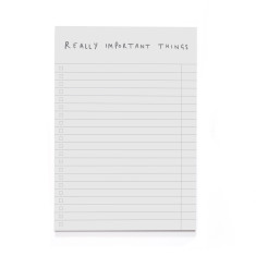 A5 Really Important Things Notepad