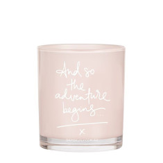 And So The Adventure Begins Candle