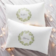 Personalised Couples Mistletoe Pillowcases
