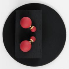 Bubble Earrings Red
