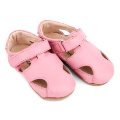 Pre-walker leather Sunday sandals in pink