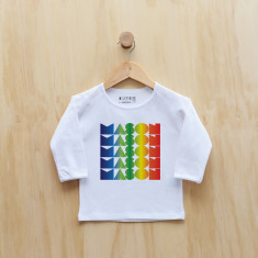 Boys' personalised rainbow gradient long sleeve t-shirt