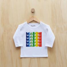 Boys' personalised rainbow gradient long sleeve t-shirt