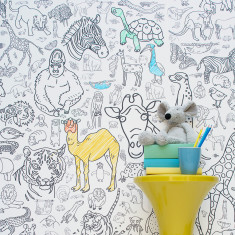 Amazing Animals Colour-in Wallpaper