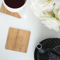 Tea Forever Bamboo Coasters (Set of 4)