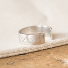 Personalised Open Ring for Him