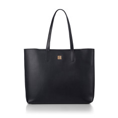 Hampton Black Nappa Leather Tote