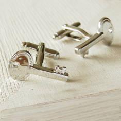 Silver Key Cufflinks