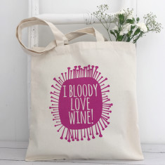 Wine lover's tote bag