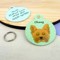 Yorkshire Terrier Dog ID Tag Personalised