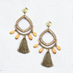 Beaded calypso earrings