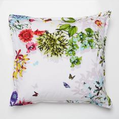 Tropicana White European pillowcase