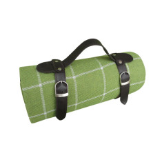 Picnic blanket in green with waterproof backing
