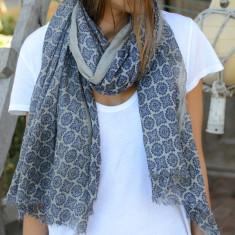 Riviera print scarf