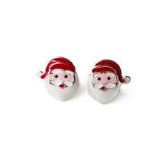 A small world stud earrings in Santa