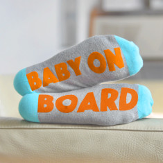 Baby On Board Funny Maternity Sock Set