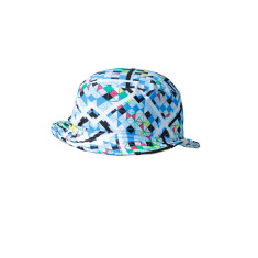 Girls' UPF 50+ bucket hat in illusion print