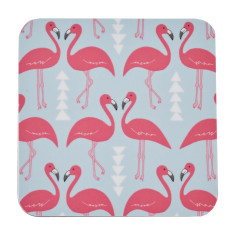 Flamingo flourish coasters (set of four)