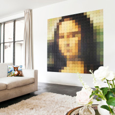 IXXI mona lisa pixel wall art