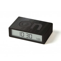 Dark Wood Flip LCD alarm clock