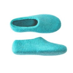 Womens Felted Slippers Turquoise Freshness