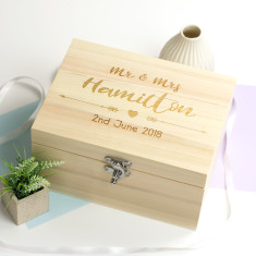 Personalised Wooden Wedding Day Keepsake Box