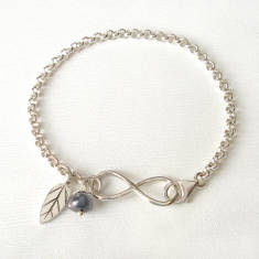 Sterling Silver Infinity Charms Bracelet