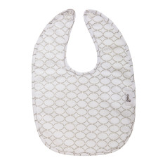 Baby bib in Clear Skies Grey