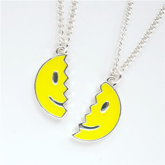 Smiley face BFF necklace set