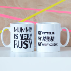 Personalised Very Busy Mummy Mug