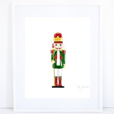 Christmas Nutcracker Print - Green