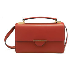 Siren crossbody leather shoulder bag (red rust)