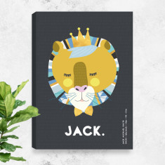 Leo Lion Personalised Birth Canvas