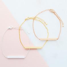 Shimmery bar bracelet in rose gold, silver or gold