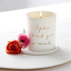Personalised Glow Through Thank You Candle